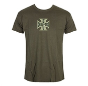 West Coast Choppers T-shirt Pour Des Hommes Og Cross - Solide Kaki - Wccts1326