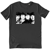Pushertees-store - T-shirt Homme Anthracite - The Beatles - John Lennon Paul Mccartney George Harrison Ringo Starr Pop Rock Collection Vintage Music - Idée Cadeau