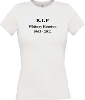 Shirt Pour Femmes Whitney Houston In Memory Of Rip Beaucoup De Couleurs Kultshirt Xs-xl - Blanc, Xl