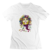 Triumph Turn Women Whitney Houston Poster Organic Cotton Shirt