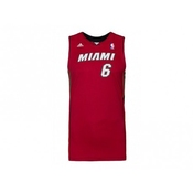 Adidas Performance Miami Heat Nba Lebron James Basketball Maillot Rouge Enfants X22275