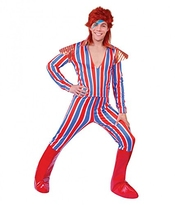 Shoperama Costume Pour Homme Ziggy Stardust Alter Ego David Bowie Taille M/l Glam Rock Star Celebrity Popstar Figurine