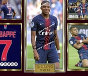 Sgh Services Poster Encadré Kylian Mbappe Paris Saint Germain Photo Affiche Pre-print Impression Photo Encadrée Cadre En Panneau Mdf De Football # 10
