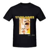 Mylene Farmer 2001 2011 80s Hommes O Neck Graphic T Shirt Large