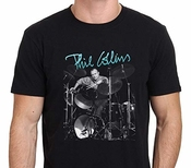 Phil Collins Genesis T-shirt Mens Fashion Tops Black