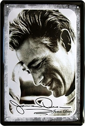 James Dean Portrait 20 x 30 cm Plaque De 572