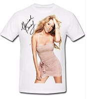 Signed Mariah Carey Picture Autograph Signature T Shirt Tee T-shirt Best Of