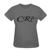 Huserd Women's Cristiano Ronaldo Cr7 Football Logo Short Sleeve T-shirt