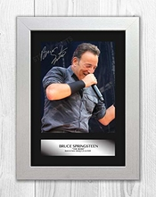 Jo Hole Prints Bruce Springsteen (1) Monté Sur Une Reproduction Autographe Photographie Photo A4 imprimé