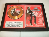 Gold Disc Frames David Guetta Signé Disque D'or
