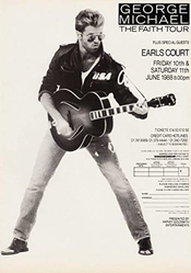 Générique George Michael The Faith Tour 1988 - London Comtes Court Affiche Foto Cd 01 (a5-a4-a3) - A4