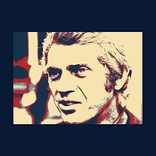 Steve Mcqueen London 1969 Poster Style Men's T-shirt