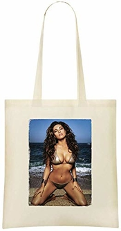 Kelly Brook Modèle Britannique Photo - Kelly Brook Uk Model Photo Custom Printed Shopping Grocery Tote Bag 100% Soft Cotton Eco-friendly & Stylish Handbag For Everyday Use Custom Shoulder Bags
