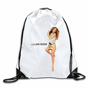 Hlkpe Custom Celine Dion Large Capacity Traveler Bag White