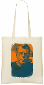 Stephen King Custom Printed Shopping Grocery Tote Bag 100% Soft Cotton Eco-friendly & Stylish Handbag For Everyday Use Custom Shoulder Bags