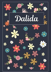 Dalida: Journal | Agenda | Carnet De Notes | 120 Pages | A4 | Blanc | Idée Cadeau
