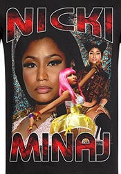 Homage Tee - T-shirt Noir Nicki Minaj Rap Tee