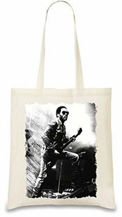 Lenny Kravitz Illustration Illustration Custom Printed Tote Bag| 100% Soft Cotton| Natural Color & Eco-friendly| Unique, Re-usable & Stylish Handbag For Every Day Use| Custom Shoulder