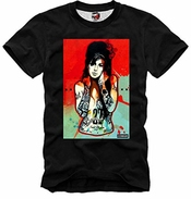 E1syndicate T Shirt Amy Winehouse Crack Dope Weed Meth Tattos Club