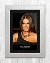 Star Prints Uk Khloe Kardashian Mt 1 ? autographe Photo A4 imprimé