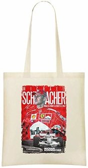 Jimmy Apparel Michael Schumacher Custom Printed Shopping Grocery Tote Bag 100% Soft Cotton Eco-friendly & Stylish Handbag For Everyday Use Custom Shoulder Bags