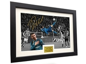 Kicks Cristiano Ronaldo 12 x 8 a4 signé Par Le But - augmentant La Juventus 0 vs Real Madrid 7,6 cm - autographe Photo Photo Cadre Photo Cadeau