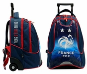 Fff Sac à Dos Roulettes 2 étoiles - Collection Officielle Equipe De France De Football