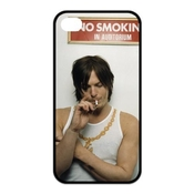 No Smoking In Auditorium Norman Reedus Iphone 4/4s Case Durable Iphone 4/4s Black Fitted Case