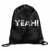 Kakalinq Big Ush Usher Raymond Yeah ! Drawstring Backpack Bag White