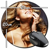 Mariah Carey B Tapis De Souris Ronde Round Mousepad Pc