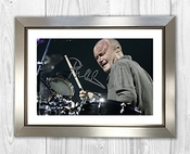 Engravia Digital Phil Collins Poster Signed Autograph Reproduction Photo A4 Print (silver Frame)