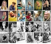 Autocollant (24pcs 60x90mm) France Gall Affiches Photos Vintage Magazine Covers French Pop Music