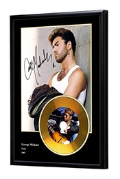 We Love Guitars George Michael Faith Replica frame cd disque d'or (b)