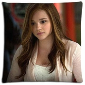 Nr Cushion Pillow Cases Polyester - Cotton Hypoallergenic Chloe Grace Moretz?size:18 * 18 Inch?