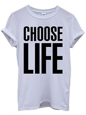Perky Fashion Choose Life Geek Nerd Funny Hipster Swag White Femme Homme Men Women Unisex Top T-shirt