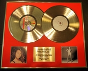 Mariah Carey/double Cd Disco De Oro & Foto Display/edicion Ltd/certificato Di Autenticità/mariah Carey & #1's