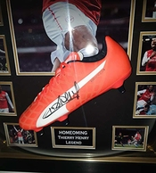 Www.signedmemorabiliashop.co.uk Thierry Henry Boot De Football The Homecoming