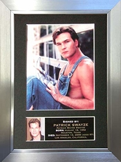 The Gift Room #4 Patrick Swayze Autographe Photo Encadrée A4