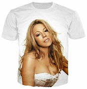 Fashion Men/men Singer Mariah Carey 3d Print Casual T-shirt Short Sleeve Tx03