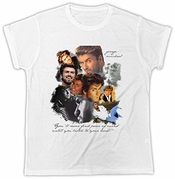 George Michael T-shirt Choose Life Music T Shirt Mens Short Sleeve Cotton T-shirt Fashion T Shirt Tops Clothing