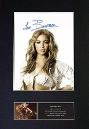 The Gift Room #440 Beyonce Autographe Photo Encadrée A4