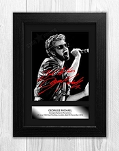 Jo Hole Prints George Michael (7) Reproduction Autographe Montée Photo A4