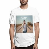 Yotoget Men Kendji Girac Slim New Year's Day Gift Solid Color Tee,white,xl