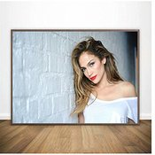 Suuyar Jennifer Lopez Poster Wall Art Prints Canvas Painting Wall Art Pictures Home Decor Print On Canvas-60x80cm No Frame