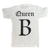 T-shirt Unisexe Queen B Inspiré Du Tour De Concerts On The Run De Beyonce Avec Jayz -  Blanc - Medium
