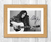 Engravia Digital Neil Young 5 Reproduction Autographe Autographe Photo A4