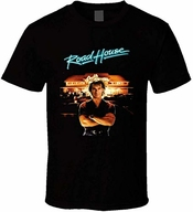Zjkdkjyxg Roadhouse Patrick Swayze Retro 80's T-shirt De Film