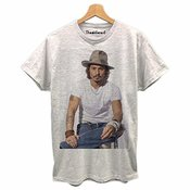 Thedifferent T-shirt Homme Johnny Depp Chapeau Idée Cadeau -  Gris -  Large