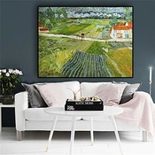 Gjqfjbs Van Gogh's Abstract Landscape Replica On Canvas Poster For Living Wall Decor A2 40x50cm