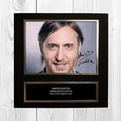David Guetta 1 NDB Signed Reproduction Autographed Wall Art - 10 inch x 10 inch Print (Card Mounted)